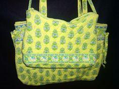 Vera Bradley retired citrus pattern handbag and clutch purse bundle lime green #VeraBradley #ShoulderBagClutchPursewithStrap