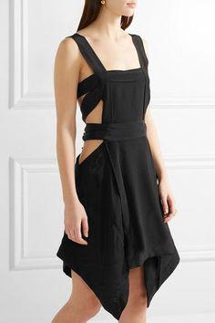 ISABEL MARANT Oury cutout silk crepe de chine mini dress