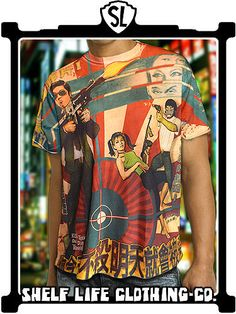 Kill Today or Die Tomorrow asian action cinema all over print tee