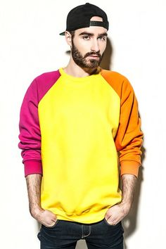 colourful FLUO sweatshirt / she's a riot