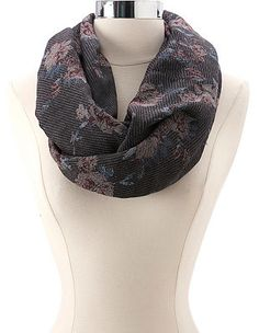 Floral Woven Infinity Scarf: Charlotte Russe