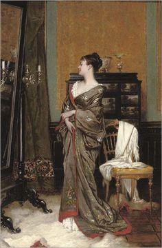 Jan Frans Verhas (Belgian, 1827-1896) : In Kimono.