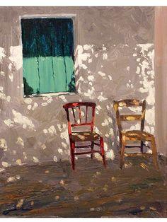 Cedar Street Galleries - Artwork ID - Fred Salmon - Green Shutters Painting Inspiration, Art Inspo, Arte Indie, Green Shutters, Posca Art, Guache, Aesthetic Art, Landscape Paintings, Landscapes