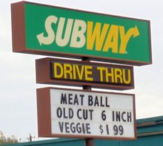 Subway Old Cut Sandwich