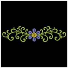 Wind Bell Embroidery Embroidery Design: Heirloom Flower Deco 0.97 inches H x 3.83 inches W