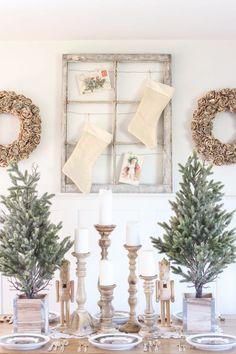 Farmhouse Christmas Dining Room  - CountryLiving.com