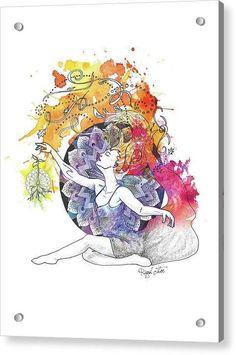 Dancer Seed Mandala - Reproductions - Acrylic / 15 x 20 / Aluminum Mounting Posts