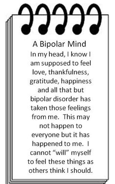 I need help finding a quote for my essay about a bipolar person describing mania?