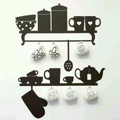 Super cute idea.. Coffee Nook