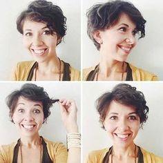 15 stilvolle Pixie Schnitte für lockiges Haar werden Sie lieben #lieben #lockiges #pixie #schnitte #stilvolle #werden