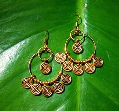 gold spiral hoops by jaidith on Etsy, $15.00
