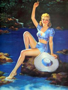 "Pearl Frush - ""Good Morning"" vintage pin-up art pinup"