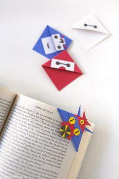How to Make Corner Bookmarks with Big Hero Six Characters.