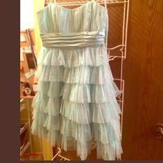 Light blue strapless dress *CLOSET CLOSING BY THE END OF THE WEEK*Light blue, sparkly dress Dresses Strapless