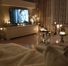I need to do this! Candles everywhere to chill.