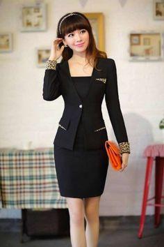 50e2e7b734 Modelos de ternos de vestir para damas  damas  modelos  modelosdevestir   ternos