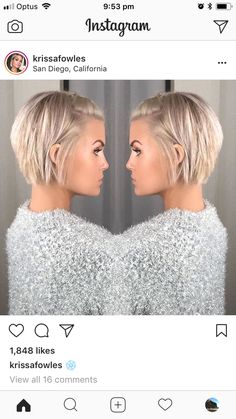 Krissa Fowles short blonde hair - Makeup İdeas For Wedding Popular Short Hairstyles, Short Bob Hairstyles, Hairstyles 2018, Layered Haircuts, Celebrity Hairstyles, Easy Hairstyles, Short Blonde, Blonde Hair, Medium Hair Styles