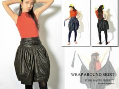 "Elena Fashion Design Workshops | EWST fashionlab : ""Zero waste"" wrap-around tulip skirt"