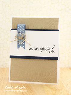 Simple card-good for a man's card