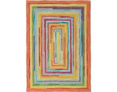 Lots of color and fun shapes for a kids room or nursery. Concentric Squares Rug by Company C.