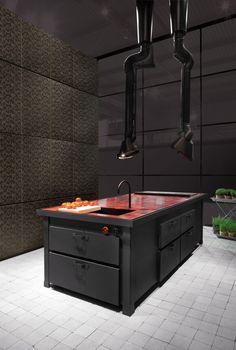 Cucina in metallo - MINÀ PROFESSIONAL A PARETE - Minacciolo   Arch ...