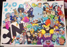 Cartoon Network Big Clash by 3208 on DeviantArt Old Cartoons, Disney Cartoons, Disney Movies, Disney Characters, Cartoon Network Characters, Cartoon Network Shows, Percy Jackson Movie, Popular Logos, Mr Krabs