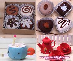 Inspiração em feltro: Caixas criativas em formato de bolo