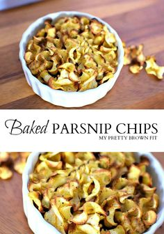 Baked Parsnip Chips make the perfect healthy snack! Easy to make and great for entertaining guests! myprettybrownfit.com