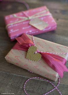 Make Your Own Love Letter Gift Wrap