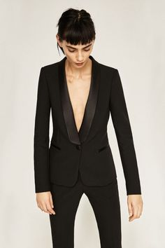 A Sleek Blazer - For the promise of instantpolish, Zara's fashion forward blazers are failsafe, from tuxedo to tweed to pinstripe.Blazer With Tuxedo Collar, $100