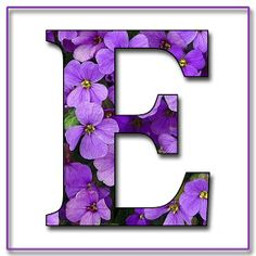 "Free Scrapbook Alphabet Letters ""Purple Flowers"" in JPG & PNG For this project I used my own alphabet ""A,"" a Photoshope font, and a backg. Flower Alphabet, Monogram Alphabet, Alphabet And Numbers, Alphabet Art, Belly Painting, Printable Letters, Decorating With Pictures, All Things Purple, Button Art"