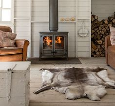 When do I move in? 😍 Fireplace World along with Stove World are Glasgow's only stockist of CHARNWOOD. Exceptional wood and multi fuel stoves Basement Fireplace, Farmhouse Fireplace, Stove Fireplace, Fireplace Mantels, Fireplaces, Wood Fireplace, Fireplace Design, Farmhouse Decor, Wood Stove Surround