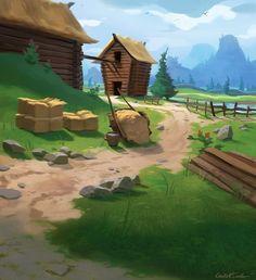 Team Fortress 2 - Farm map concept Picture  (2d, fan art, game art, landscape)