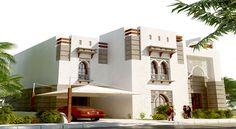 Modern Contemporary Arabic Architecture Modern Architecture House, Islamic Architecture, Concept Architecture, Dream Home Design, Modern House Design, Chalet Design, Building Elevation, Boundary Walls, Villa Plan