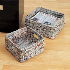 Newspaper basket.