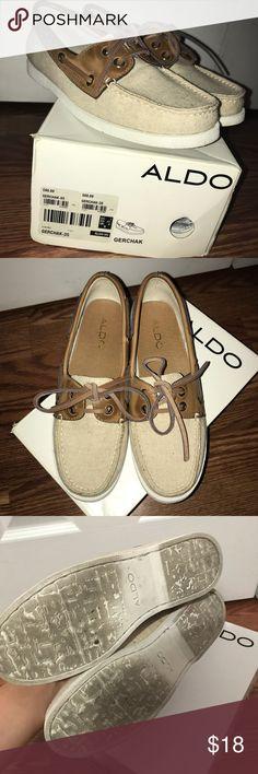 Aldo brand boat shoes! These Aldo brand boat shoes have been worn a couple times but still in fairly good condition! :) with box Aldo Shoes Flats & Loafers