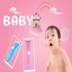 Baby Hair Cutting Machine Baby Hair Clipper Child Charge Type Clipper help your baby make modelling really useful Baby Makes, Baby Kids, Maternity, Type, Children, How To Make, Hair, Young Children, Boys