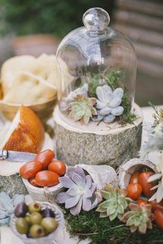 rustic succulent wedding centerpiece - Deer Pearl Flowers
