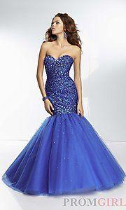Buy Beaded Tulle Mermaid Gown at PromGirl