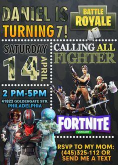 Fortnite Birthday Invitation Fortnite Invitation Fortnite