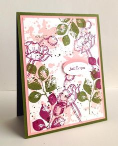 What beautiful colors Becky gave us today. I enjoyed working with them. Hand Made Greeting Cards, Making Greeting Cards, Paper Cards, Diy Cards, Card Making Inspiration, Making Ideas, Make Your Own Card, Beautiful Handmade Cards, Stamping Up Cards