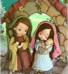 Lety Diy Nativity, Nativity Ornaments, Christmas Nativity, Christmas Crafts, Christmas Decorations, Polymer Clay Projects, Clay Crafts, Sweet Drawings, Cute Love Stories