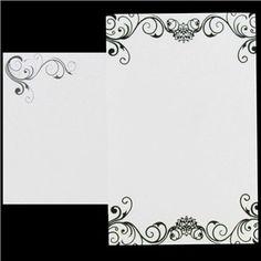 His U0026 Hers Black U0026 White Flocked Wedding Invitations | Shop Hobby Lobby