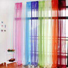 Translucent Sheer Tulle Voile Organdy Curtain Drape Wedding Decor for Door Window Vestibule Room - Banggood Mobile