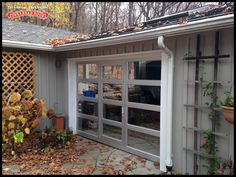 Check out this awesome glass aluminum door installed by Overhead Door Company of Cortland in New York. The home owners wanted to be able to close off their breezeway during the winter but still have easy access. The customer chose a model 521 aluminum garage door with an integrated pass door manufactured by the Overhead Door Corporation. Need something special for your home? We can help!  Learn more at: http://www.overheaddoor.com/garage-doors/Pages/aluminum-collection.aspx