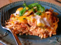 Southwestern Baked Spaghetti - moms cooking