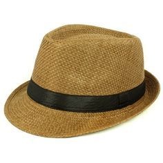 Enhance your mans style with this super fashion forward straw fedora, perfect to accessorize with any outfit.