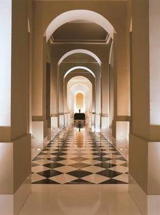 Hotel Hallway, Trident, Stairways, Animal Print Rug, Entryway, India, Hallways, Foyers, Corridor