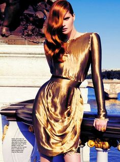 Alexina Graham by Troyt Coburn for Marie Claire Australia (October 2012). Chanel dress.