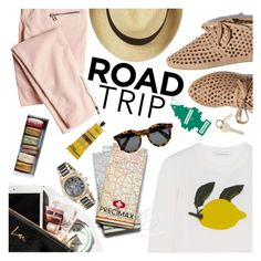 """Road tripping"" by punnky on Polyvore featuring J.W. Anderson, Victoria's Secret, Garance Doré, Swiss Precimax, Loeffler Randall, Aesop, Illesteva and roadtrip"